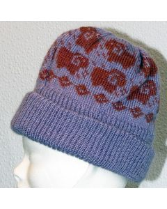Kid Mohair Hat with Sheep Motif