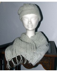 Hat & Scarf set in Mohair & Wool