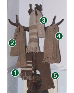 Shetland Wool Scarves - Hand Framed.
